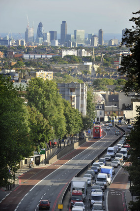 Archway Road looking towards the City; 2009