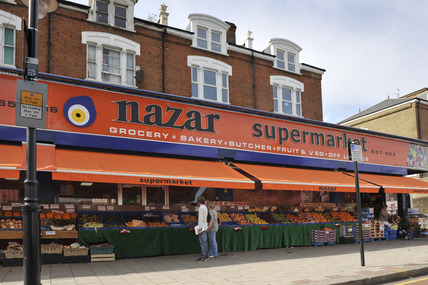 Supermarket Tottenham High Road; 2009
