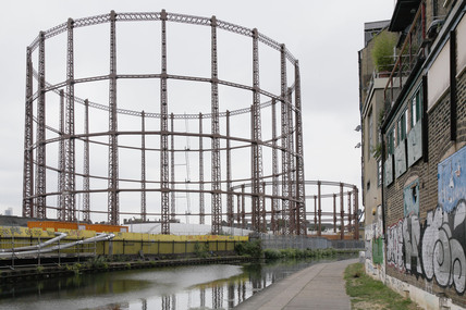 A gasworks in Hackney; 2009