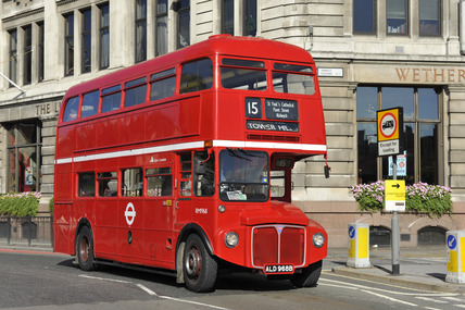 A Routemaster bus; 2010