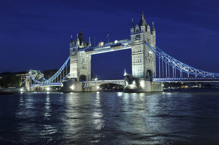 Tower Bridge at night; 2010