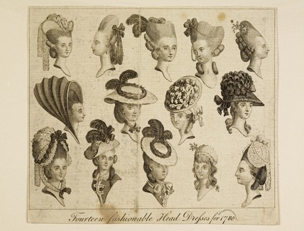 Fourteen fashionable Head Dresses for 1780