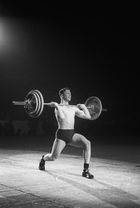 Weight lifter: c.1950