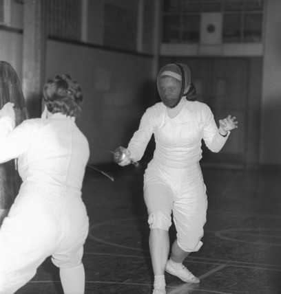 Two women Fencing; c1962