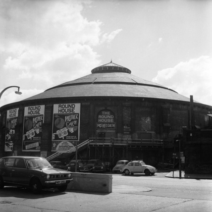 Exterior of The Roundhouse, Chalk Farm, Camden