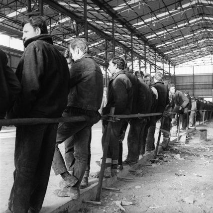 Employees of Thamesmead Industrialised Building Factory; 1969