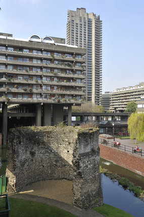 The Old London Wall and Barbican Centre; 2011