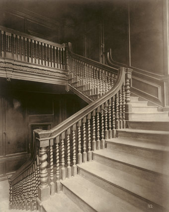 Staircase at No. 10 Austin Friars: 1884