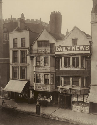 Old houses, Fleet Street: 1884