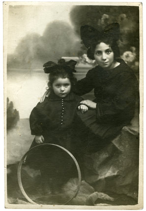 Elizabeth and Balkina Mandlbaum: c. 1910
