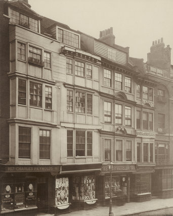 Old houses in The Strand: 1886