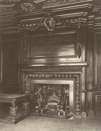 Chimney Piece, Tallow Chandler's Hall: 1886