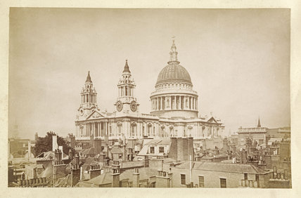 View of St.Pauls Cathedral; c.1880