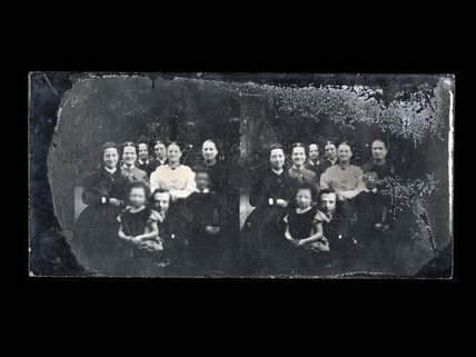 Photograph of a Victorian family at home; c.1860