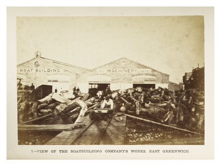 National Boat Building Company's works at East Greenwich; c.1863