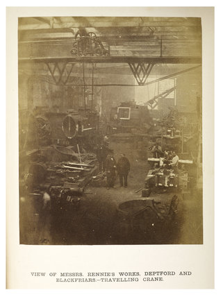 Messrs George Rennie and Sons works, c.1863