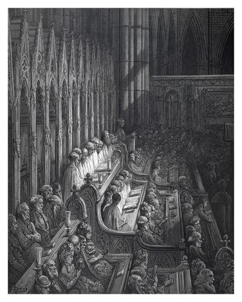 Westminster abbey - the choir: 1872