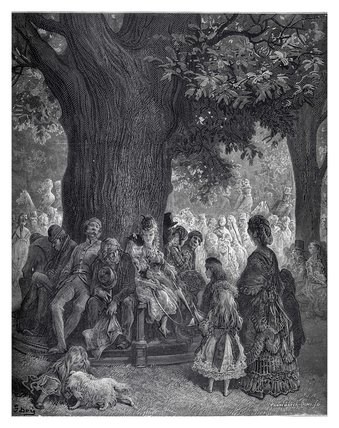 The great tree - Kensington Gardens: 1872