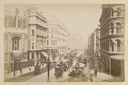 Queen Victoria Street looking to Mansion House
