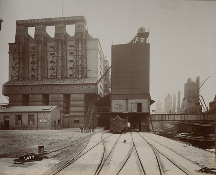 Millwall Dock granary route: c.1920
