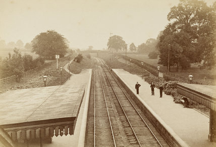 Palmers Green Station, Alderman's Hill c.1871.