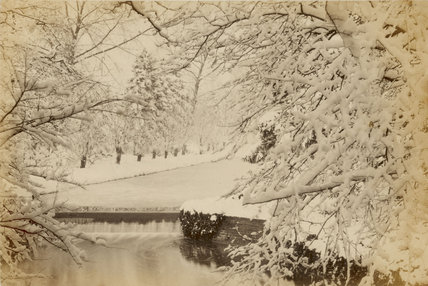Colney Hatch Lane covered in snow; c.1870