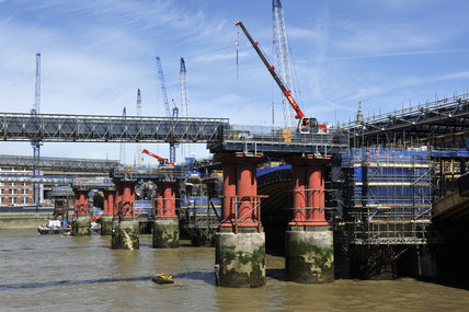 The Construction of Blackfriars Station; 2011