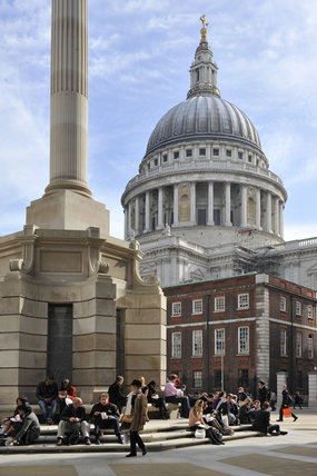 St. Pauls Cathedral from Paternoster Square; 2010