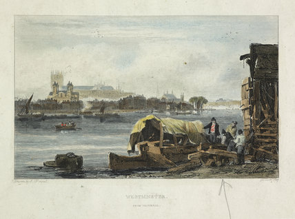 Westminster from Vauxhall: 1827