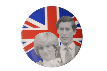 Souvenir badge for Royal Wedding 1981