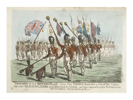 A military parade in Hyde Park; 1811