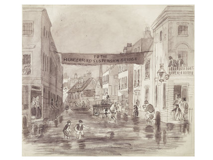 The High Tide - Overflow of the Thames; 1850