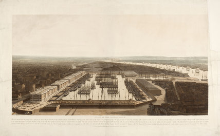 A View of the London Docks; 1808