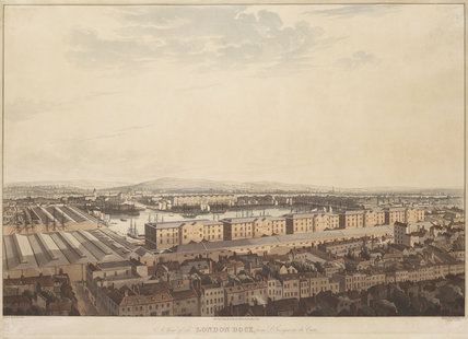 The London Dock from St George's; 1816