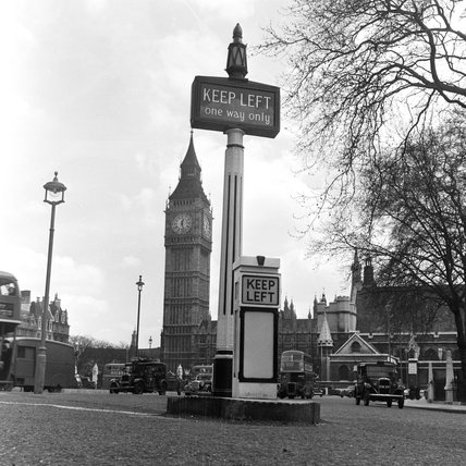 Photograph of Big Ben and the Houses of Parliament; c 1951