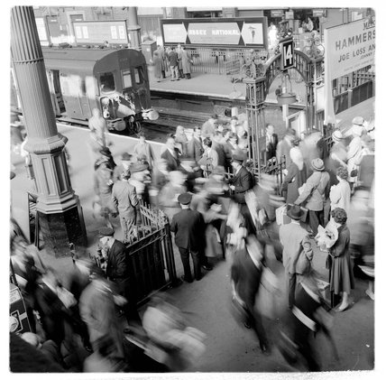 Passengers at Liverpool Street Station; 1960