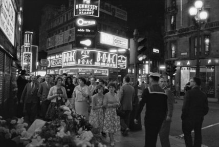 The West End at night; 1960