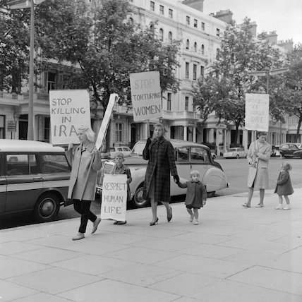 Womens Human Rights in Iraq demonstration; 1962
