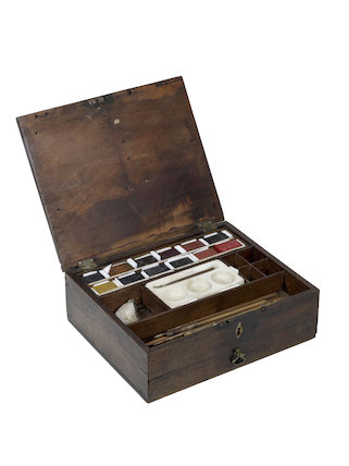 Reeves Collection. Wooden paint box used by Isaac Smith (Captain