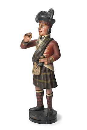 Trade figure of a Scots highlander; 1866-1900