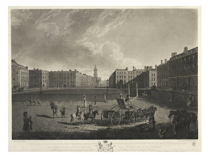 Hanover Square from the north; 1785-1795