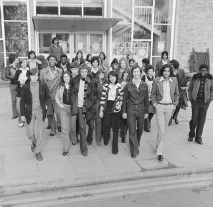 Students at Southgate Technical College; 1975