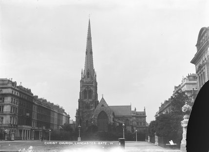 The exterior of Christ Church Lancaster Gate,1903 - 1910