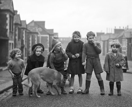 Children and dog. c.1955
