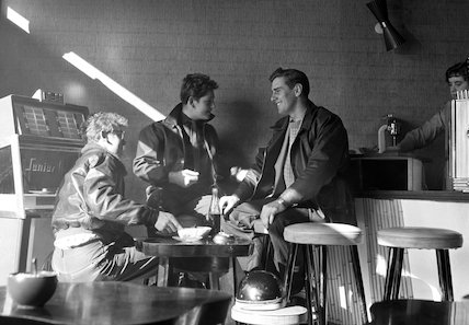 Three young men in coffee bar. c.1955