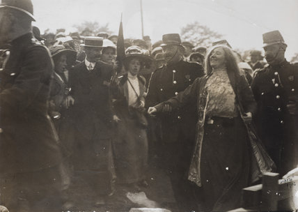 A suffragette arrested