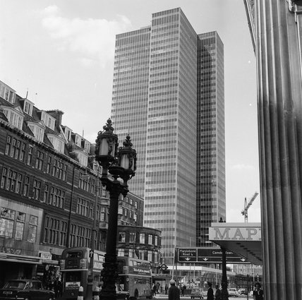 Euston Tower in Euston Road in August 1969