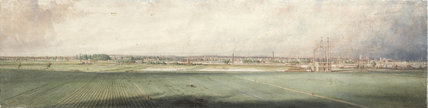 Panoramic view of the city skyline, from Battersea; 1848