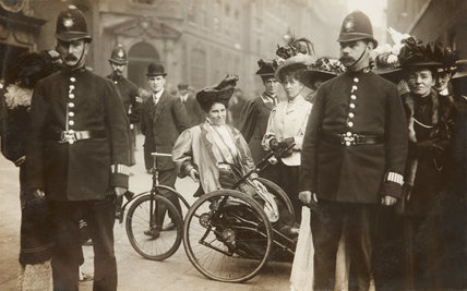 The Suffragette, May Billinghurst campaigning;c.1910