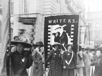 Members of the Women Writers' Suffrage League, NUWSS procession